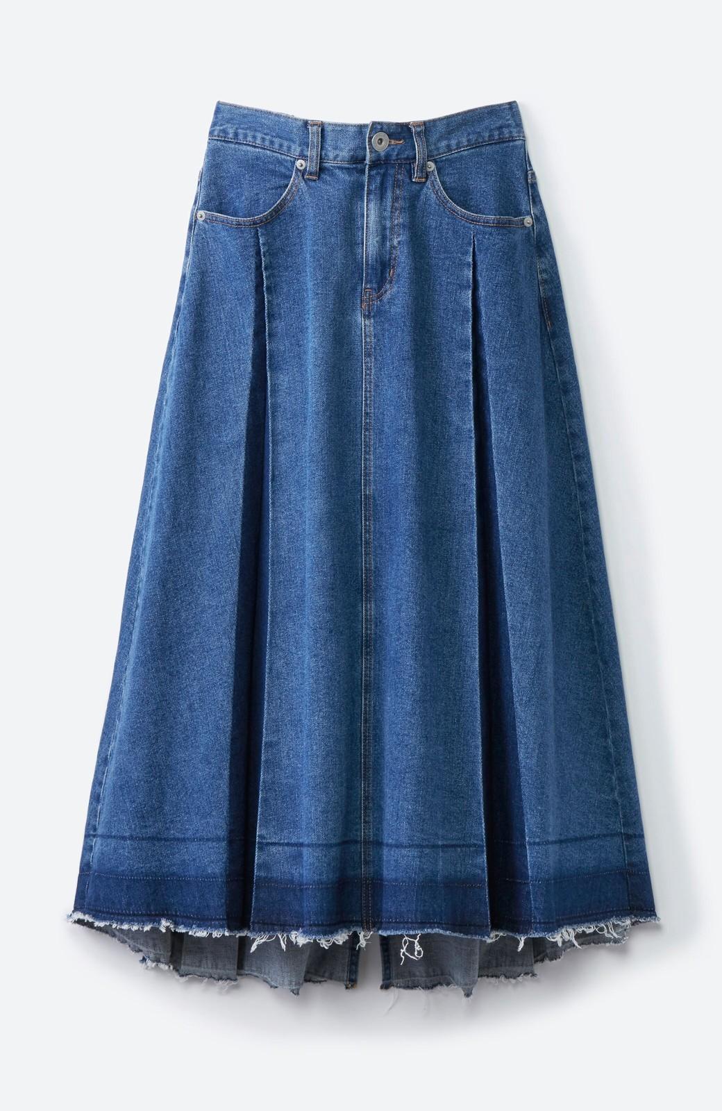 haco! 【再再再入荷!】デニムパネルプリーツスカート <ブルー>の商品写真32
