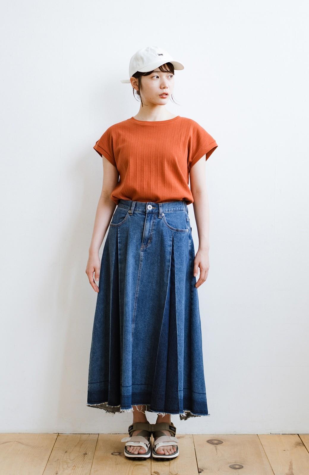 haco! 【新色登場&再入荷!】デニムパネルプリーツスカート <ブルー>の商品写真23