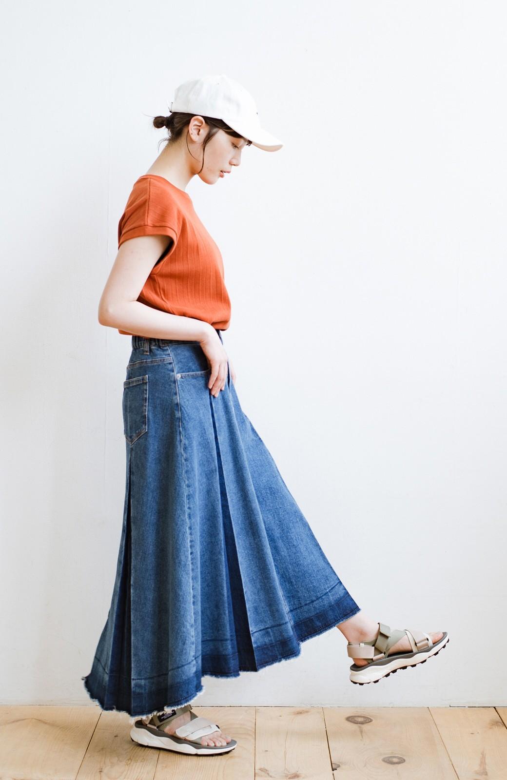 haco! 【再再再入荷!】デニムパネルプリーツスカート <ブルー>の商品写真21