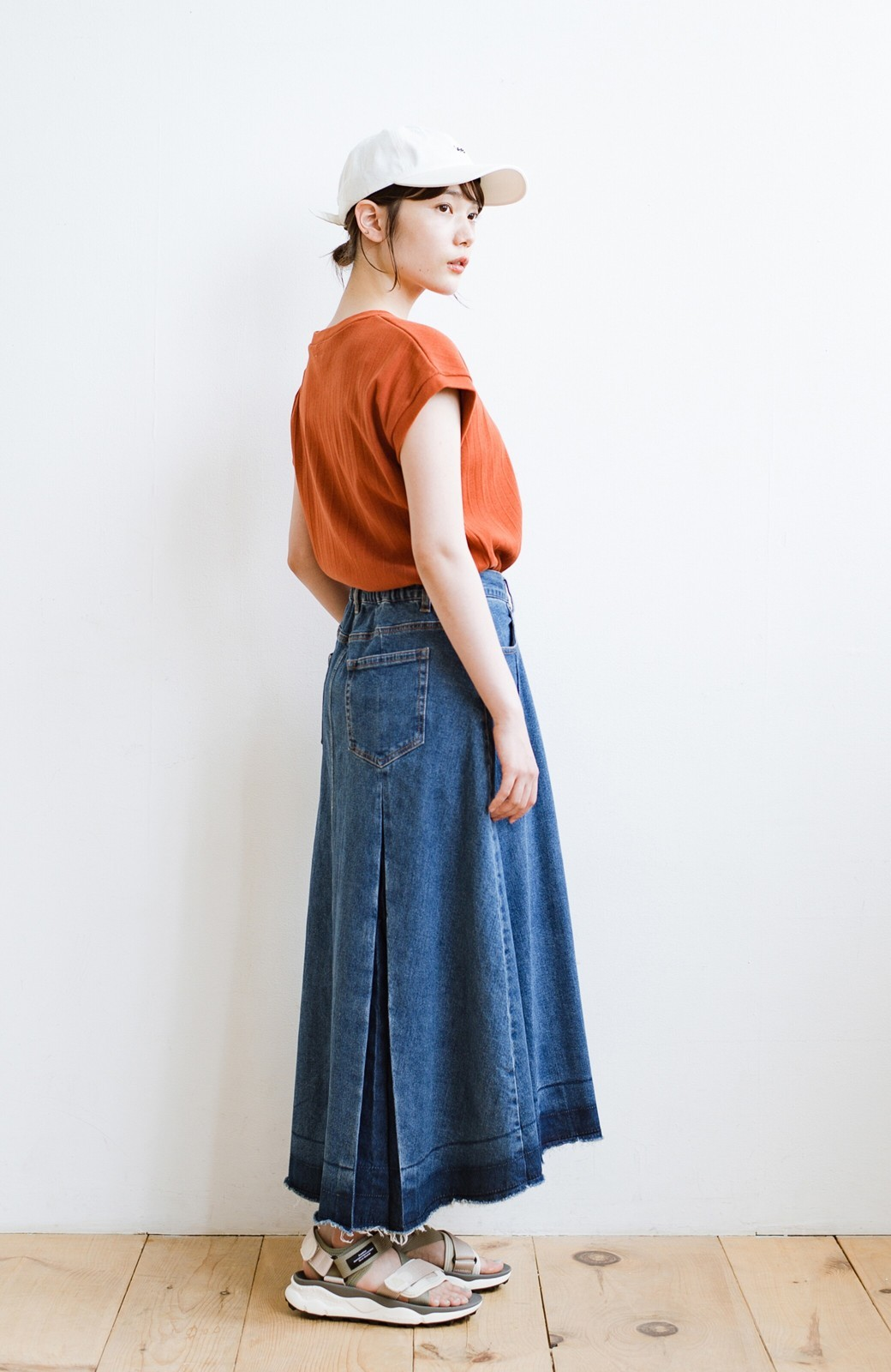 haco! 【再再再入荷!】デニムパネルプリーツスカート <ブルー>の商品写真20
