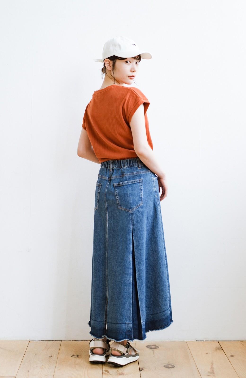 haco! 【新色登場&再入荷!】デニムパネルプリーツスカート <ブルー>の商品写真26