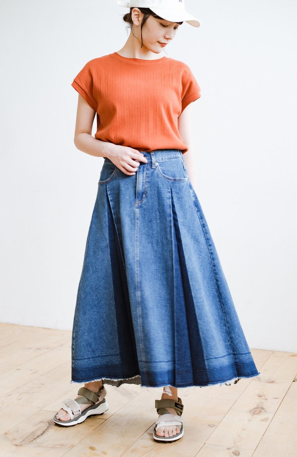haco! 【新色登場&再入荷!】デニムパネルプリーツスカート <ブルー>の商品写真10