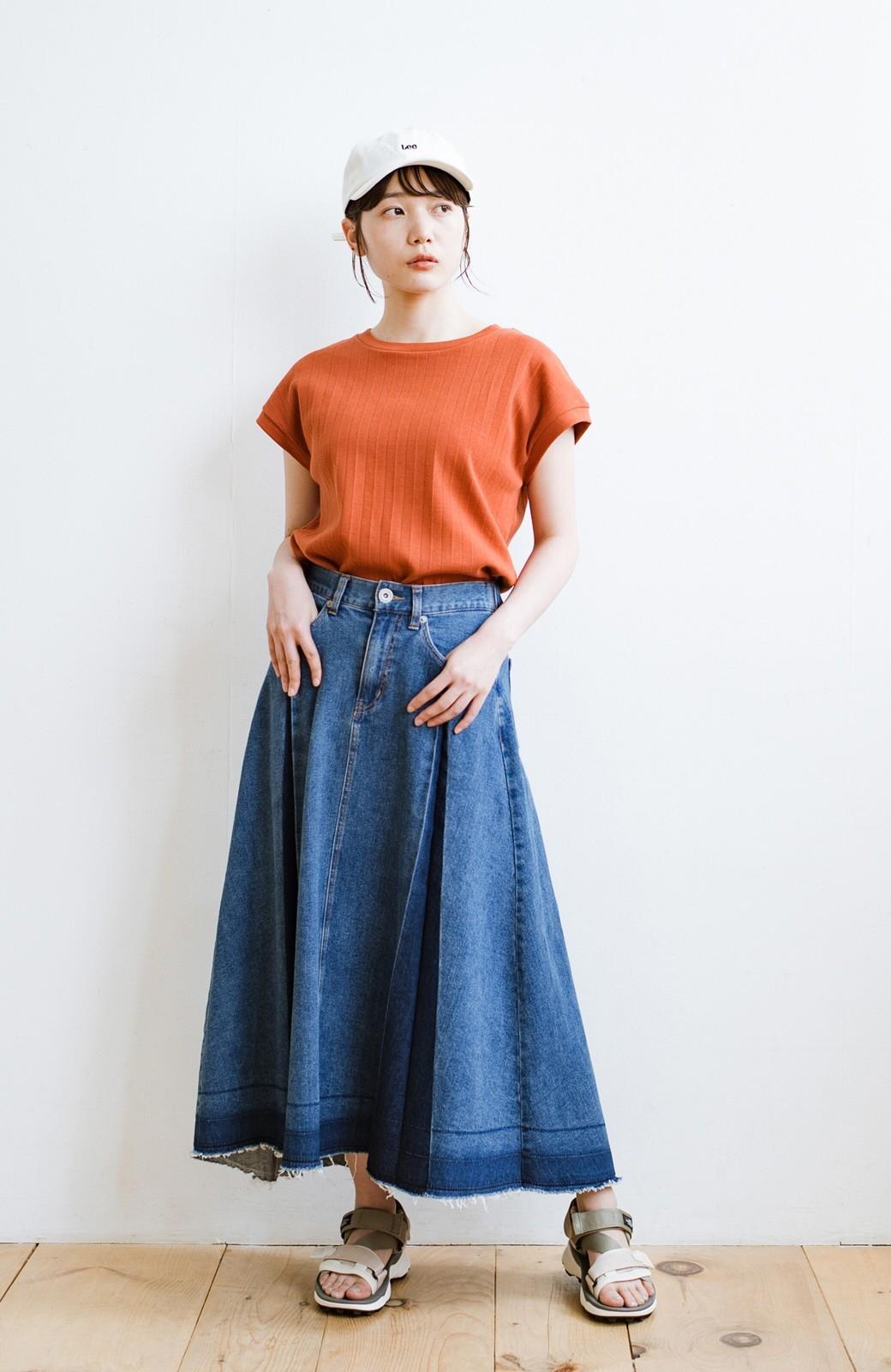 haco! 【新色登場&再入荷!】デニムパネルプリーツスカート <ブルー>の商品写真28