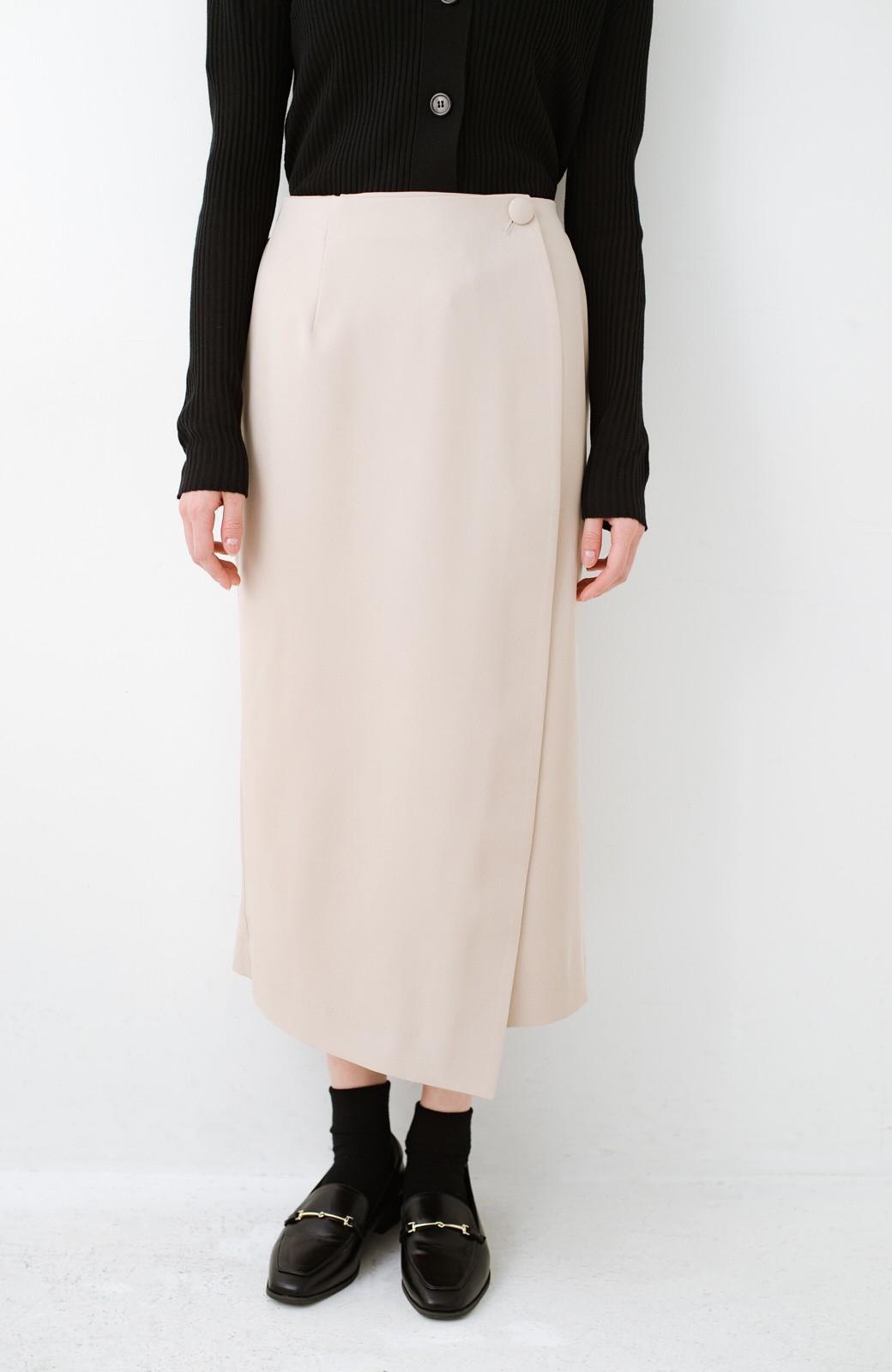 haco! いざというとき困らないための きちんと見えするラップスカート by que made me <ベージュ>の商品写真3