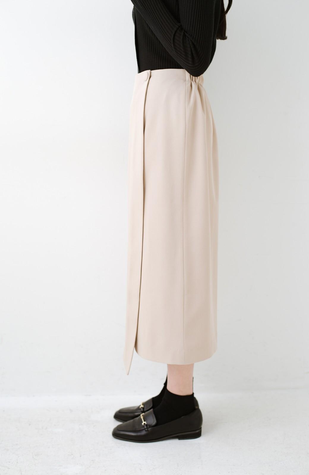 haco! いざというとき困らないための きちんと見えするラップスカート by que made me <ベージュ>の商品写真4