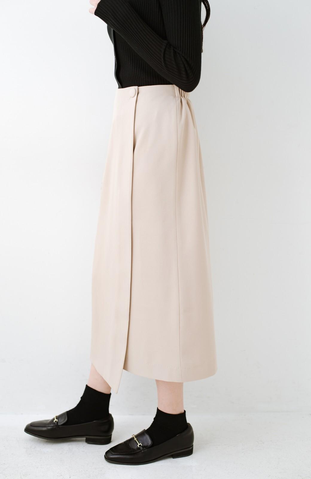 haco! いざというとき困らないための きちんと見えするラップスカート by que made me <ベージュ>の商品写真5