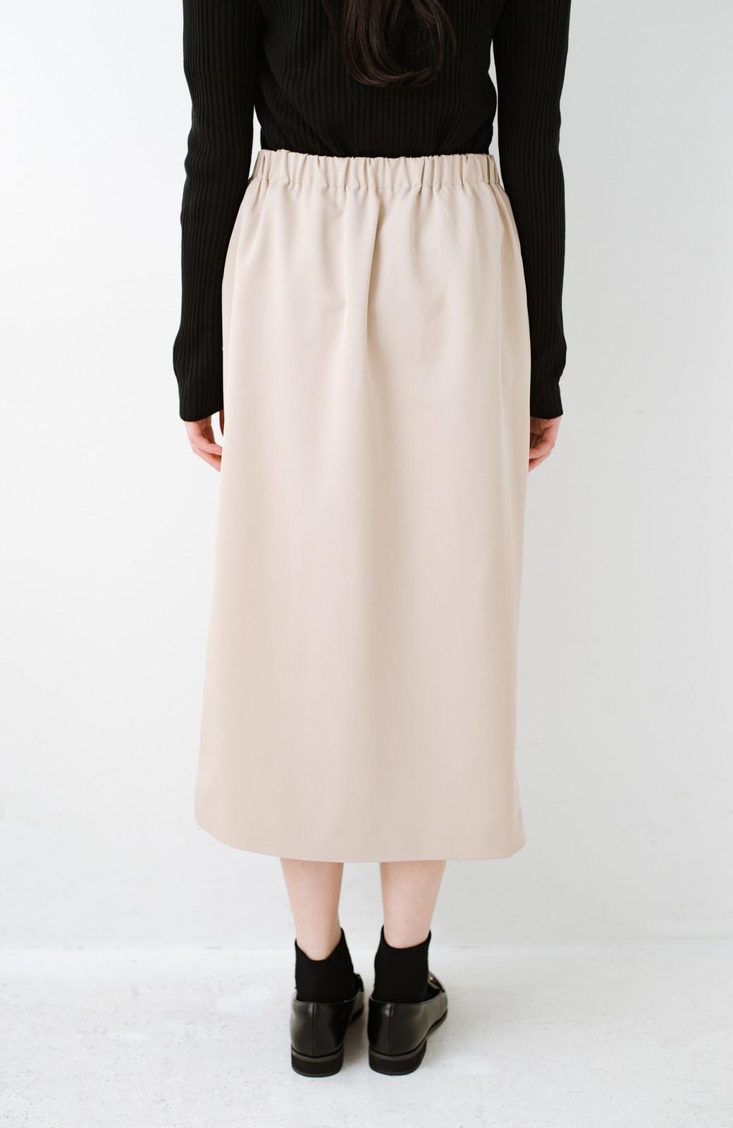 haco! いざというとき困らないための きちんと見えするラップスカート by que made me <ベージュ>の商品写真6