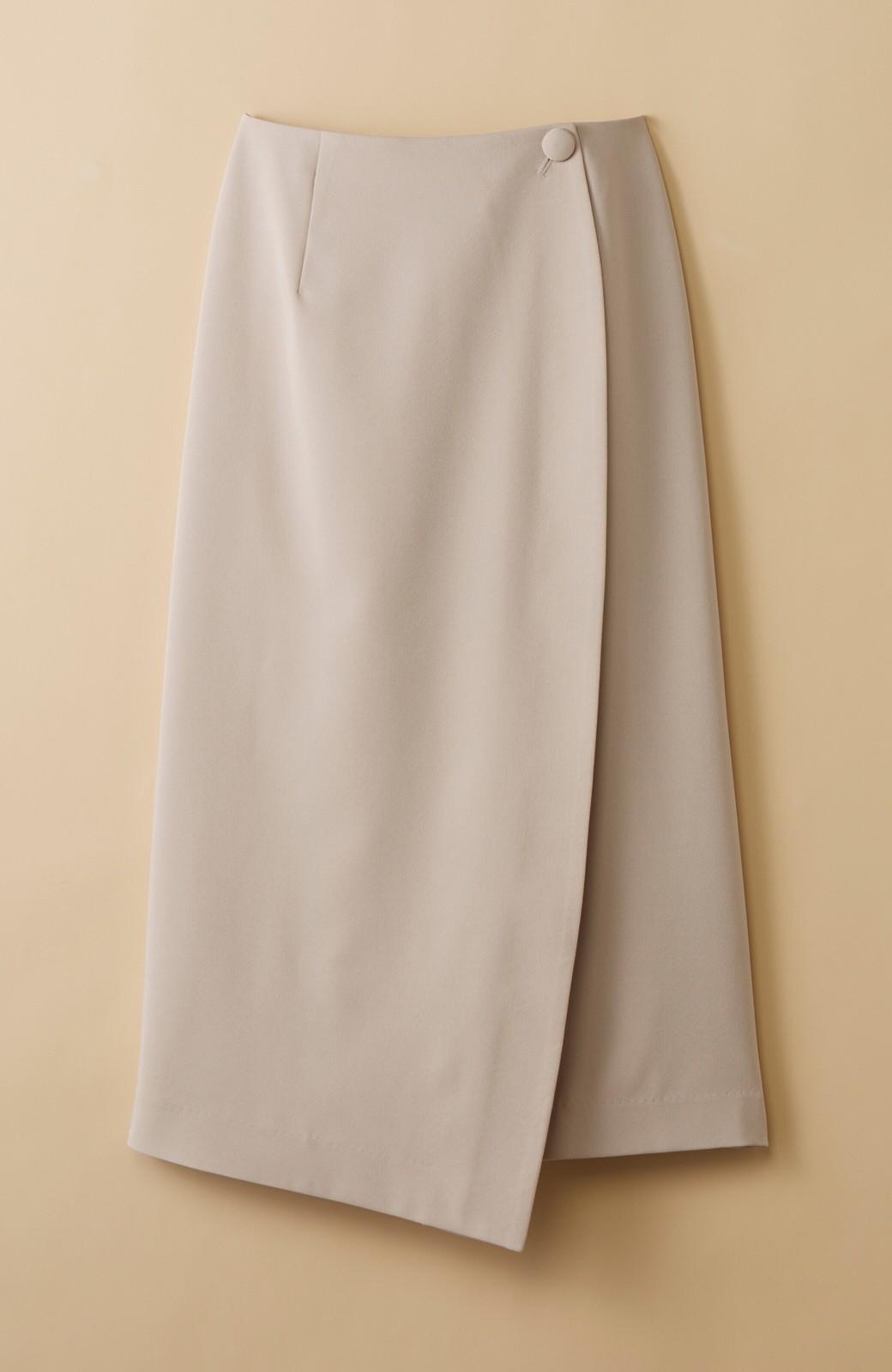 haco! いざというとき困らないための きちんと見えするラップスカート by que made me <ベージュ>の商品写真1