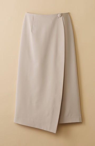 haco! いざというとき困らないための きちんと見えするラップスカート by que made me <ベージュ>の商品写真