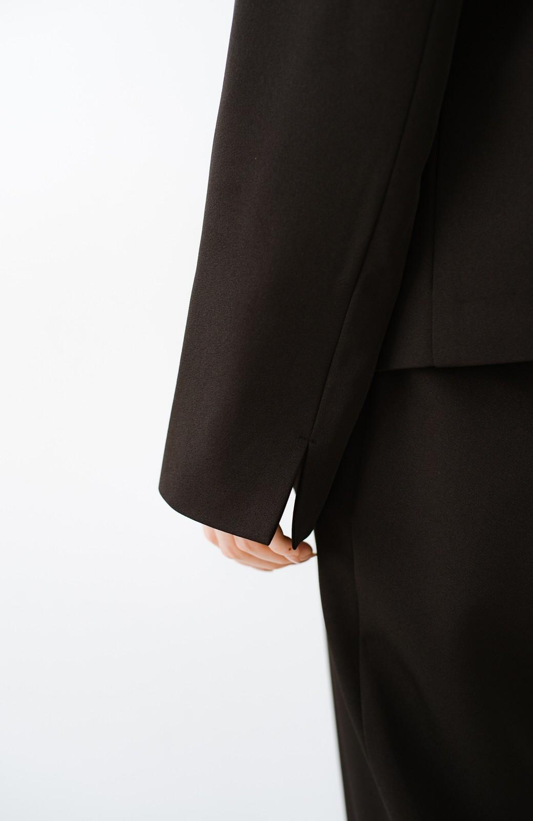 haco! いざというとき困らないための 大人のきれいめノーカラージャケット by que made me(裏地付き) <ブラック>の商品写真5