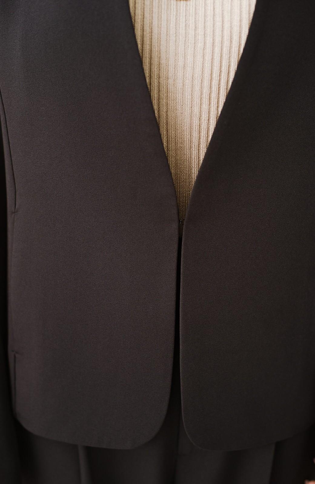 haco! いざというとき困らないための 大人のフォーマル裏地付きジャケット・パンツ2点セット by que made me <ブラック>の商品写真5