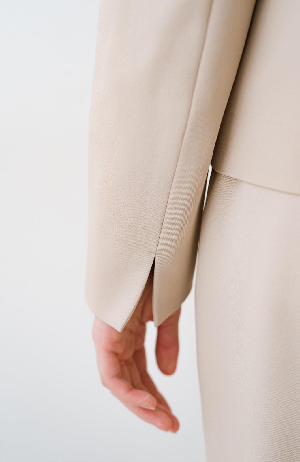 haco! いざというとき困らないための 大人のフォーマル裏地付きジャケット・パンツ2点セット by que made me <ベージュ>の商品写真19