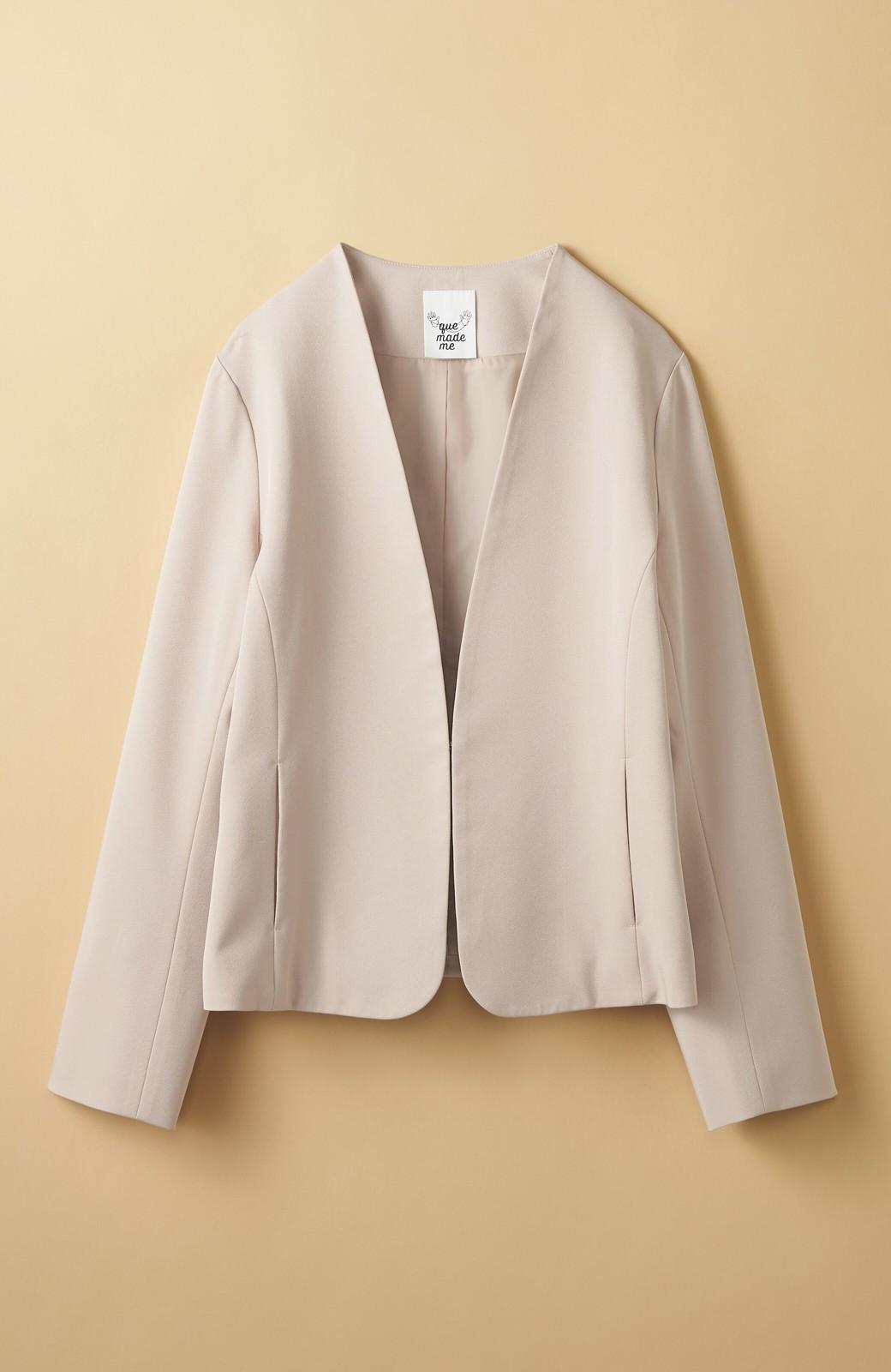 haco! いざというとき困らないための 大人のフォーマル裏地付きジャケット・スカート2点セット by que made me <ベージュ>の商品写真3