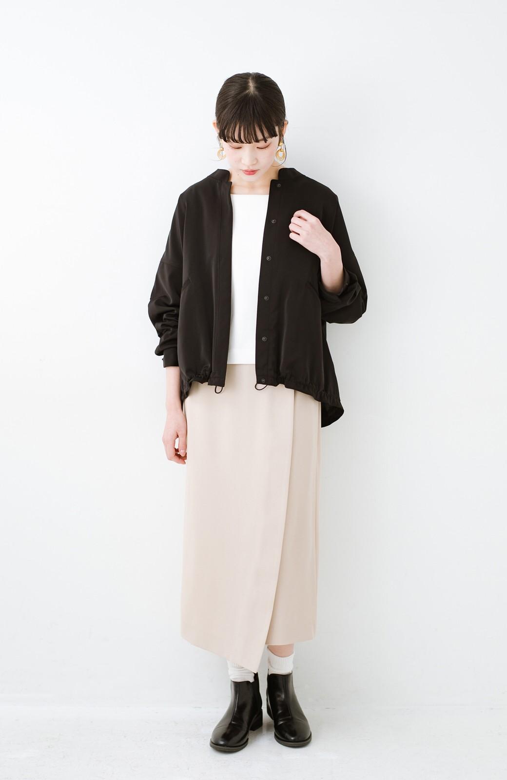 haco! いざというとき困らないための 大人のフォーマル裏地付きジャケット・スカート2点セット by que made me <ベージュ>の商品写真9