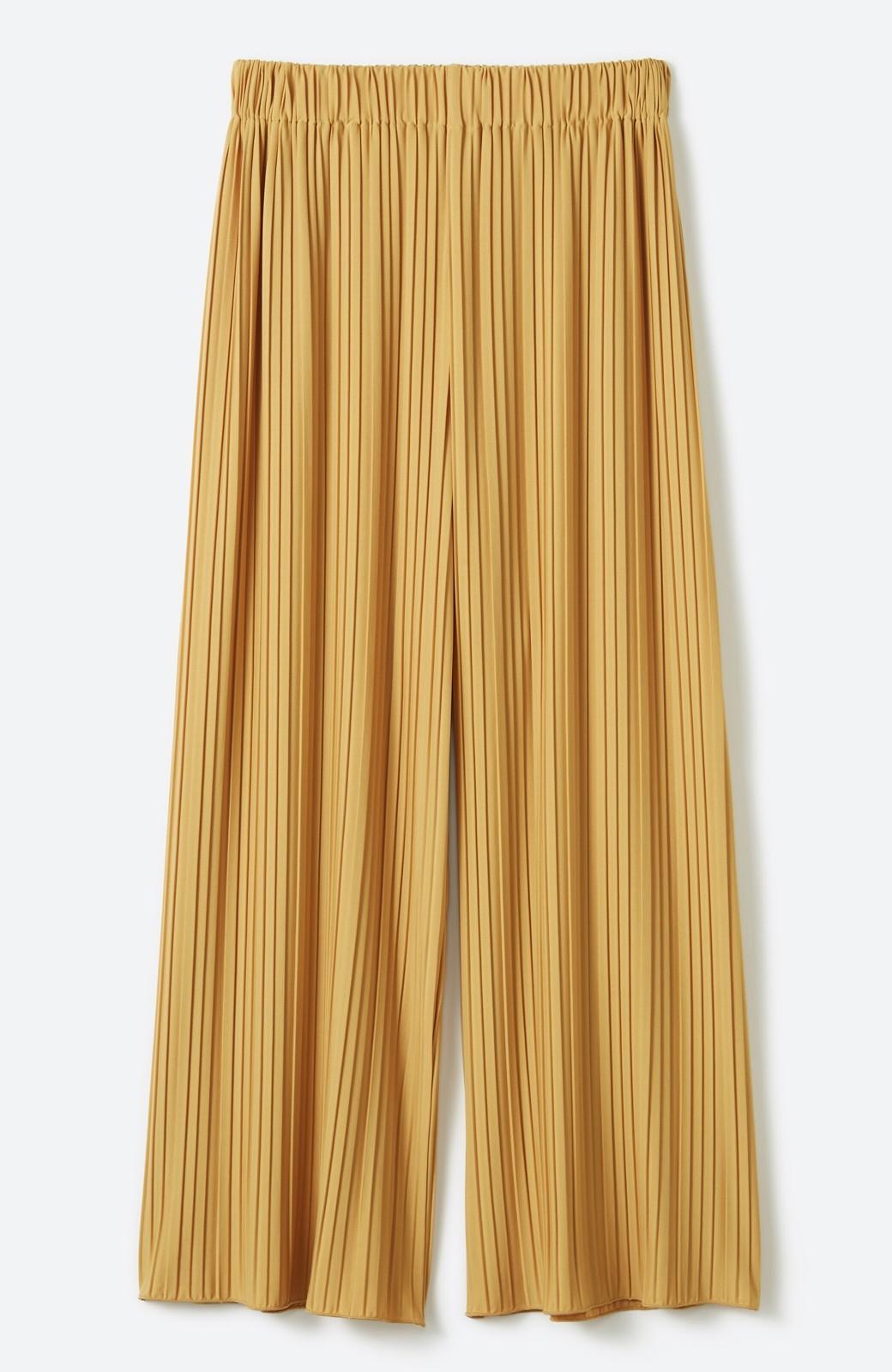 haco! パンツ派さんのデートにもカジュアル派さんの重ね着にも便利なプリーツパンツ <マスタード>の商品写真21