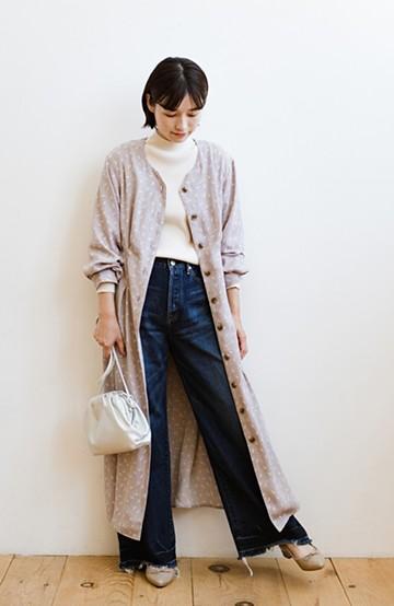 haco! パッと着て華やかさグッとアップ!羽織としても使える便利な柄ワンピース <パープル>の商品写真