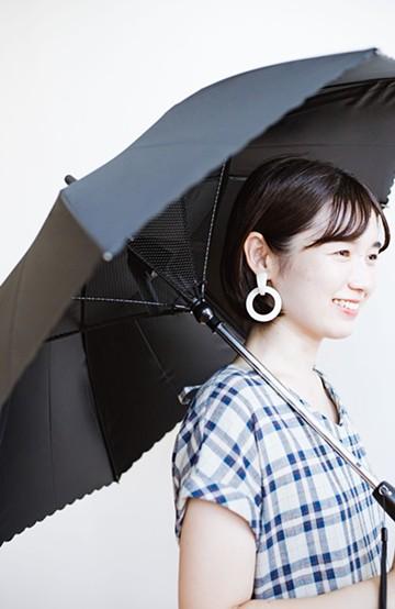 haco! 扇風機付きパラソル Fan cool <ブラック>の商品写真