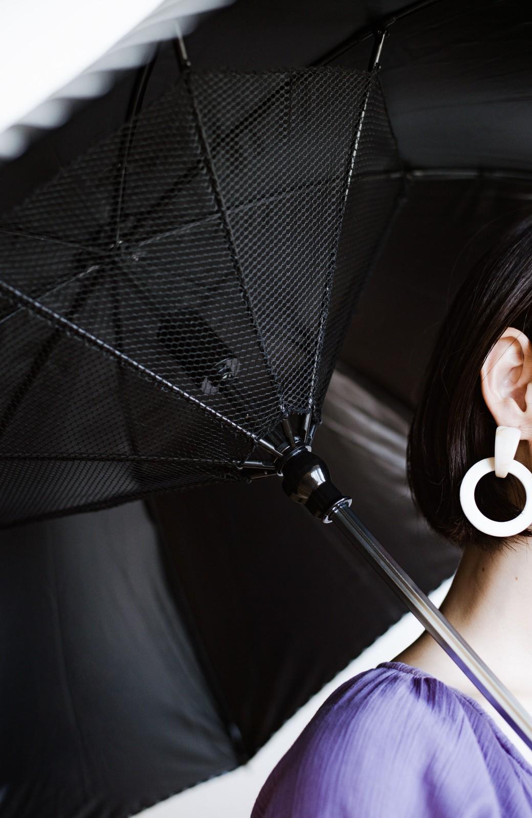 haco! 扇風機付きパラソル Fan cool <ブラック系その他>の商品写真2