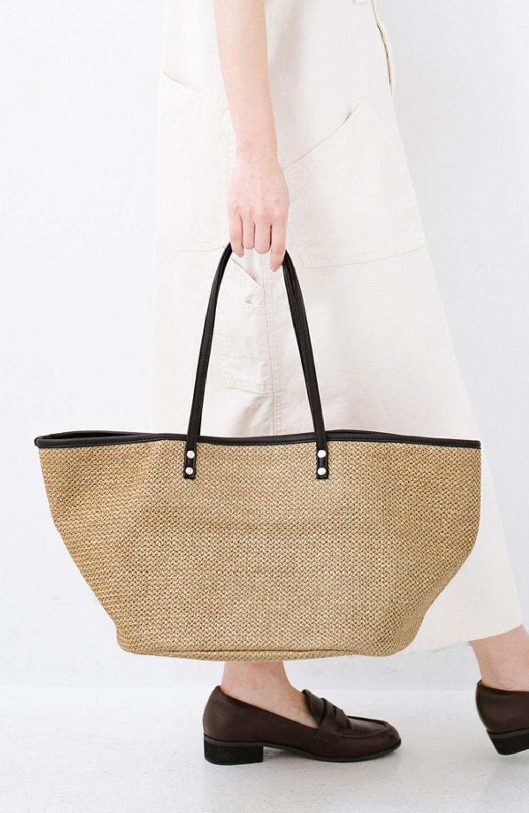 haco! ピクニックにも毎日のおともにも ざっくり入って便利な大きめトートバッグ <ブラック>の商品写真1