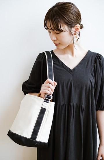 haco! anello®  バケツ型がユニークなミニトートバッグ <ブラック>の商品写真