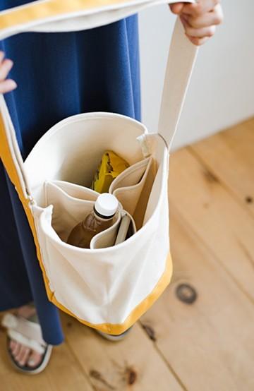haco! anello®  バケツ型がユニークなミニトートバッグ <イエロー>の商品写真