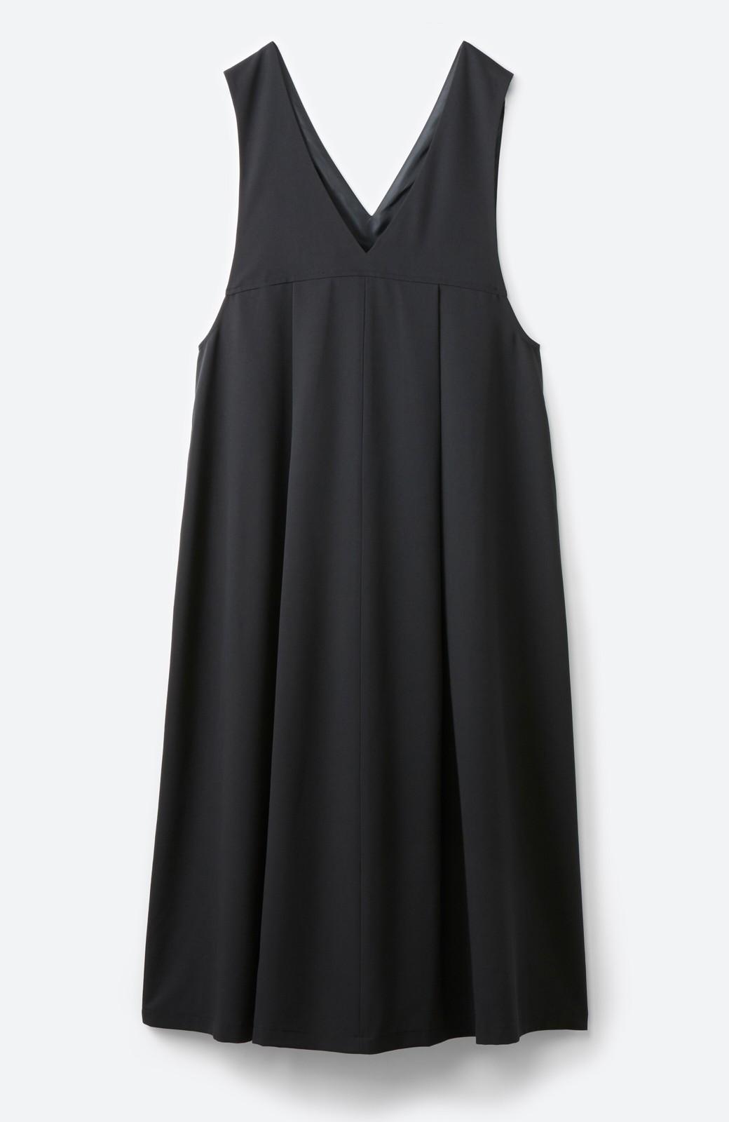 haco! 長め丈登場!Tシャツにもニットにもずーーーっと着られて便利なジャンパースカート <ブラック>の商品写真16