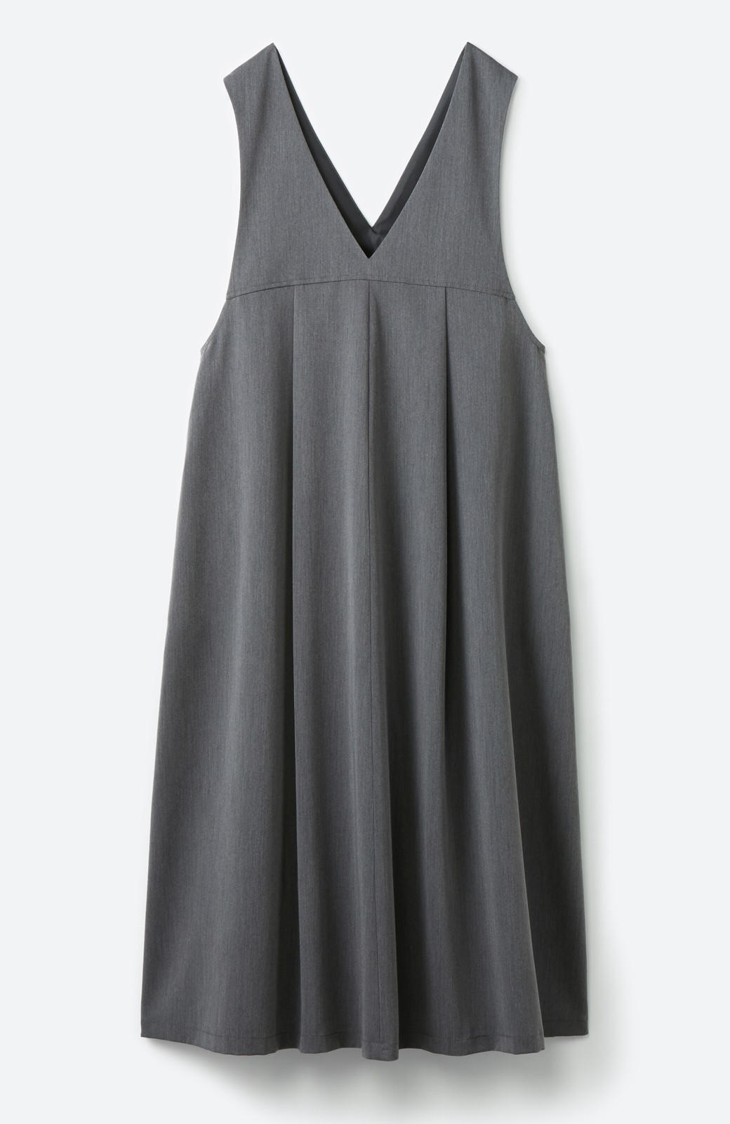 haco! 長め丈登場!Tシャツにもニットにもずーーーっと着られて便利なジャンパースカート <グレー>の商品写真16
