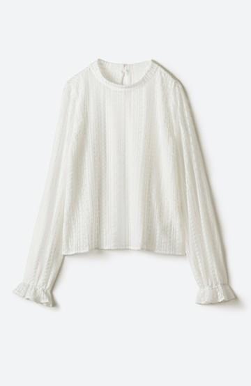 haco! 季節の変わり目や重ね着にも便利なやわらかレーストップス <ホワイト>の商品写真