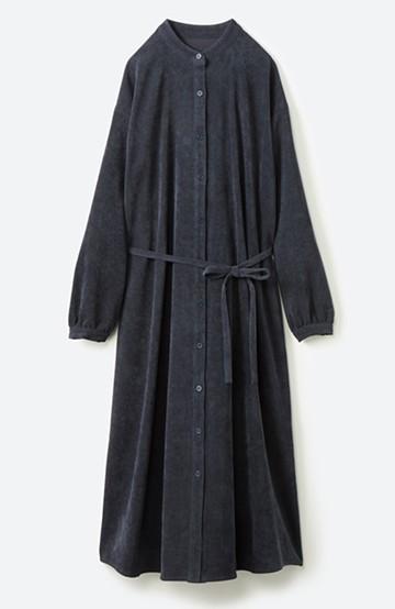 haco! 1枚でもパンツを重ねても便利!羽織にもなるコーデュロイワンピース <ネイビー>の商品写真