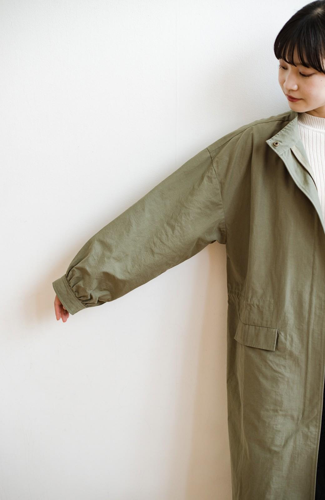 haco! さっと羽織って甘辛バランスOK!になれる便利なビッグシルエットミリタリーコート <カーキ>の商品写真6