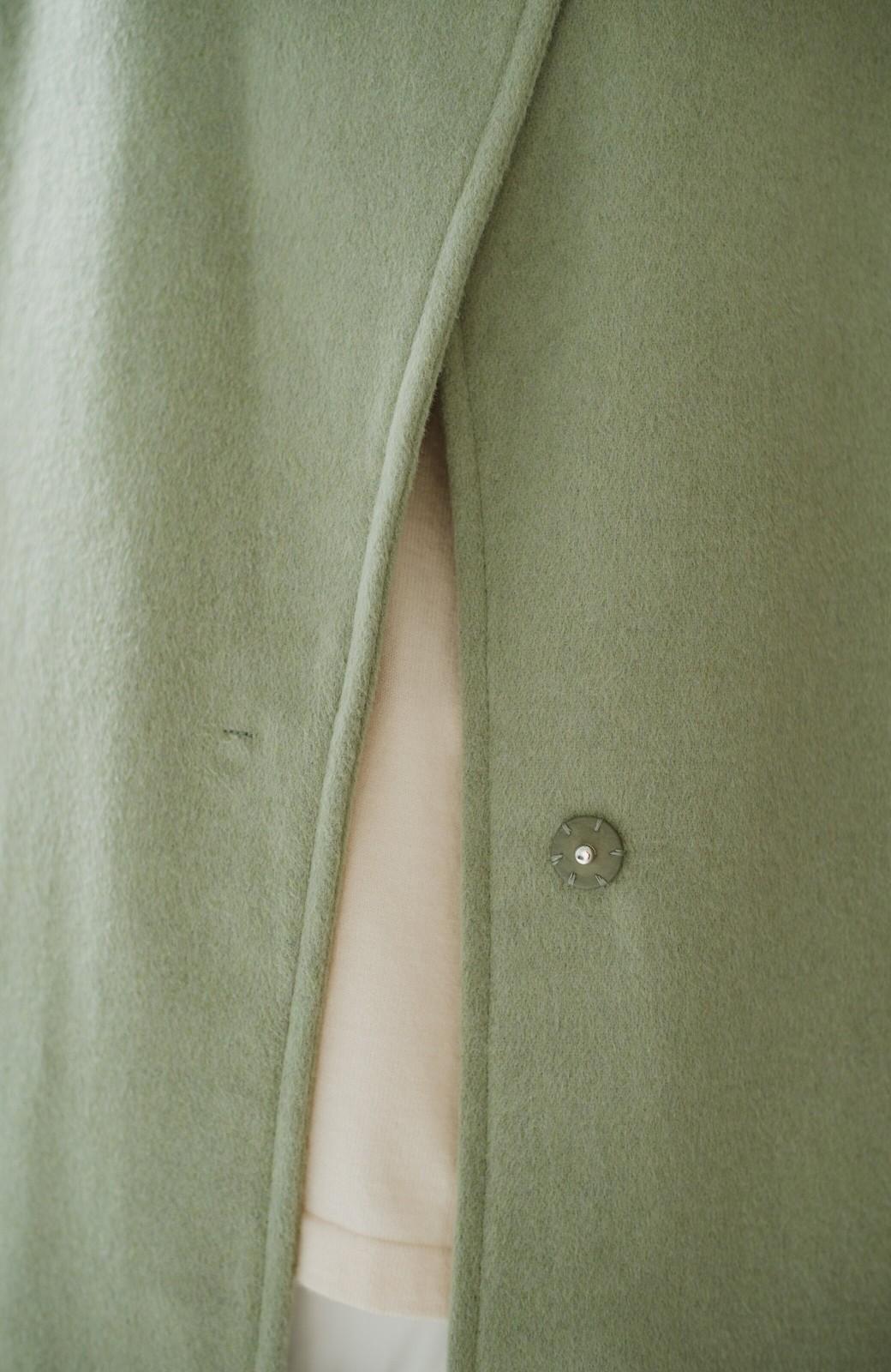 haco! 冬の地味コーデ脱出! さっと羽織って女っぽいきれい色ガウンコート <ミント>の商品写真9
