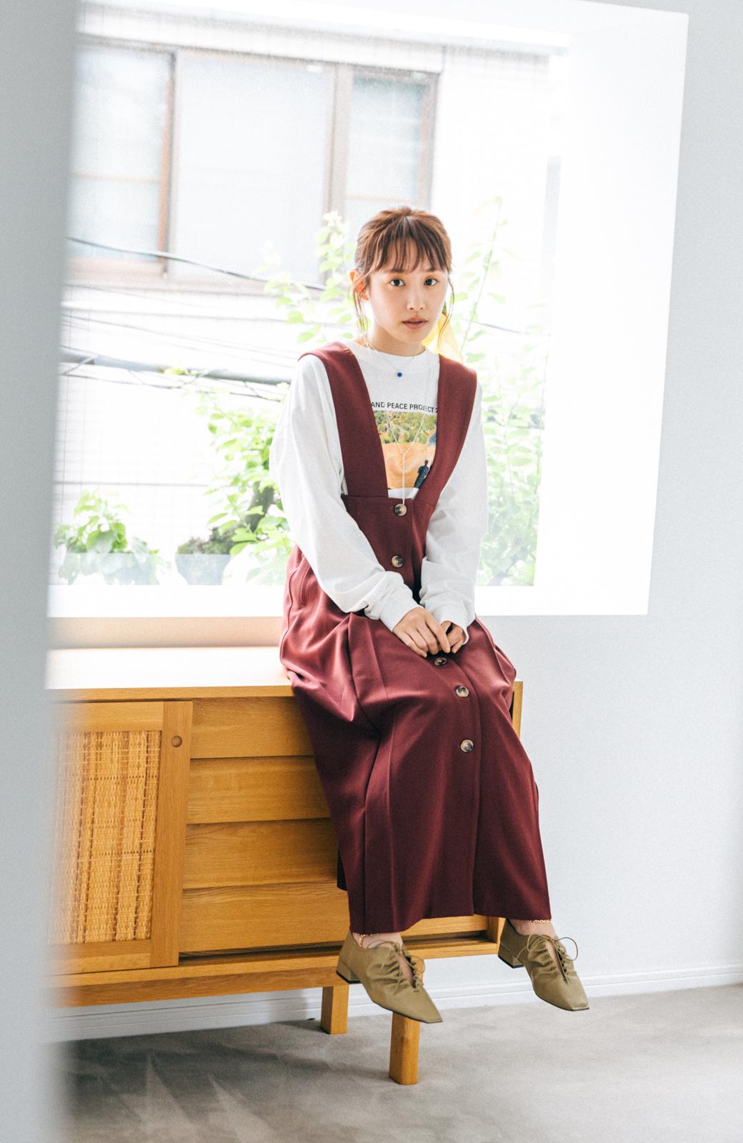 haco! 【高橋愛さんコラボ】フォトプリントのユニセックスロングTシャツ by LOVE&PEACE PROJECT + PBP  <ホワイト>の商品写真8