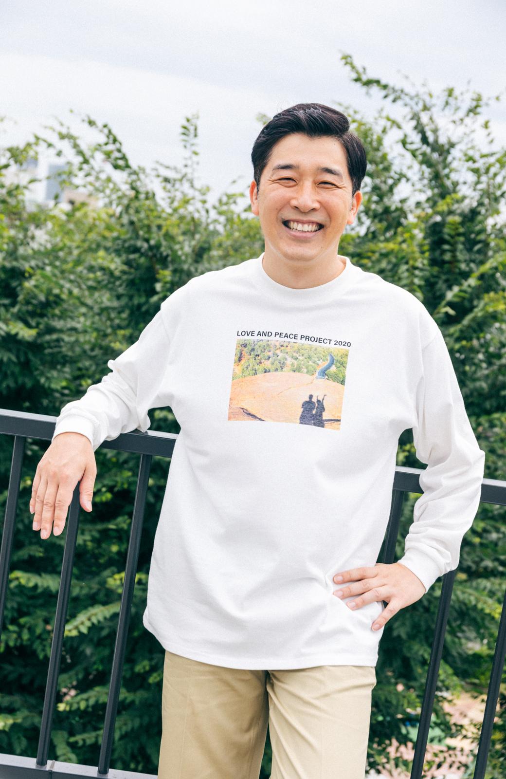 haco! 【高橋愛さんコラボ】フォトプリントのユニセックスロングTシャツ by LOVE&PEACE PROJECT + PBP  <ホワイト>の商品写真21