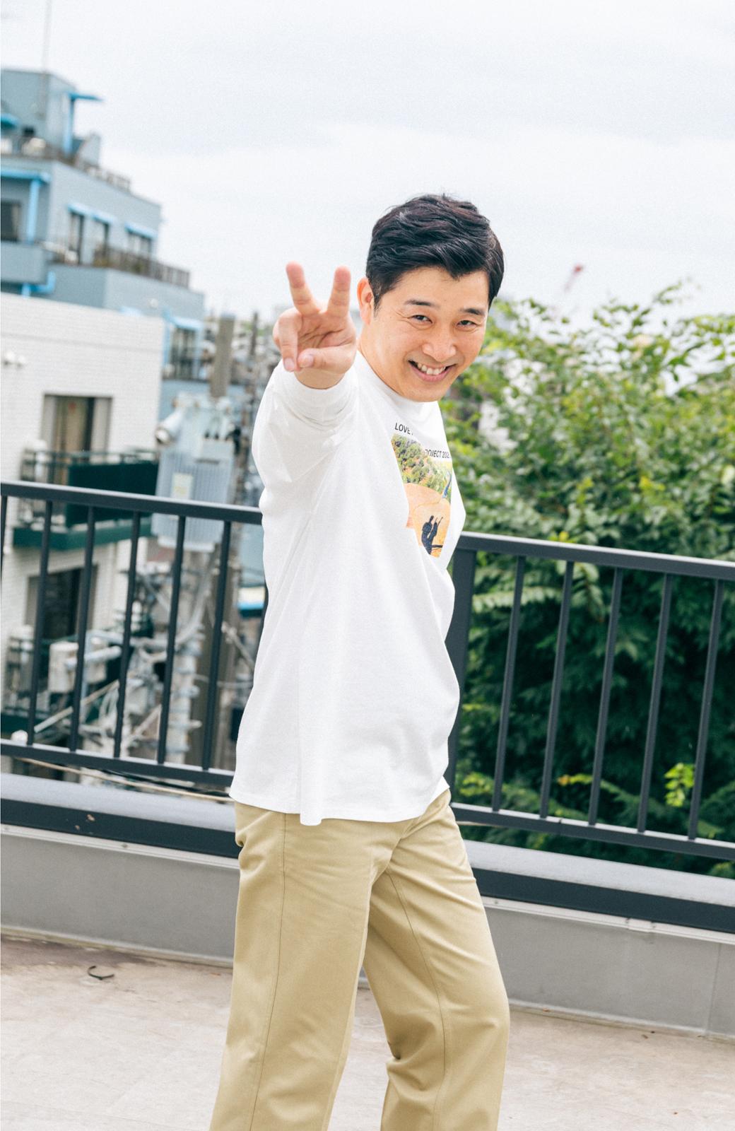 haco! 【高橋愛さんコラボ】フォトプリントのユニセックスロングTシャツ by LOVE&PEACE PROJECT + PBP  <ホワイト>の商品写真22