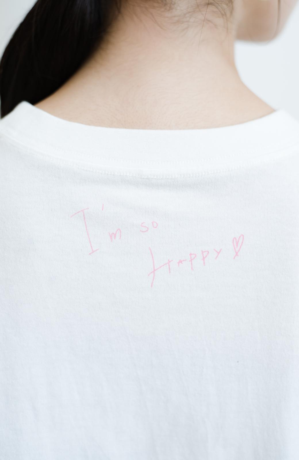 haco! 【高橋愛さんコラボ】フォトプリントのユニセックスロングTシャツ by LOVE&PEACE PROJECT + PBP  <ホワイト>の商品写真27