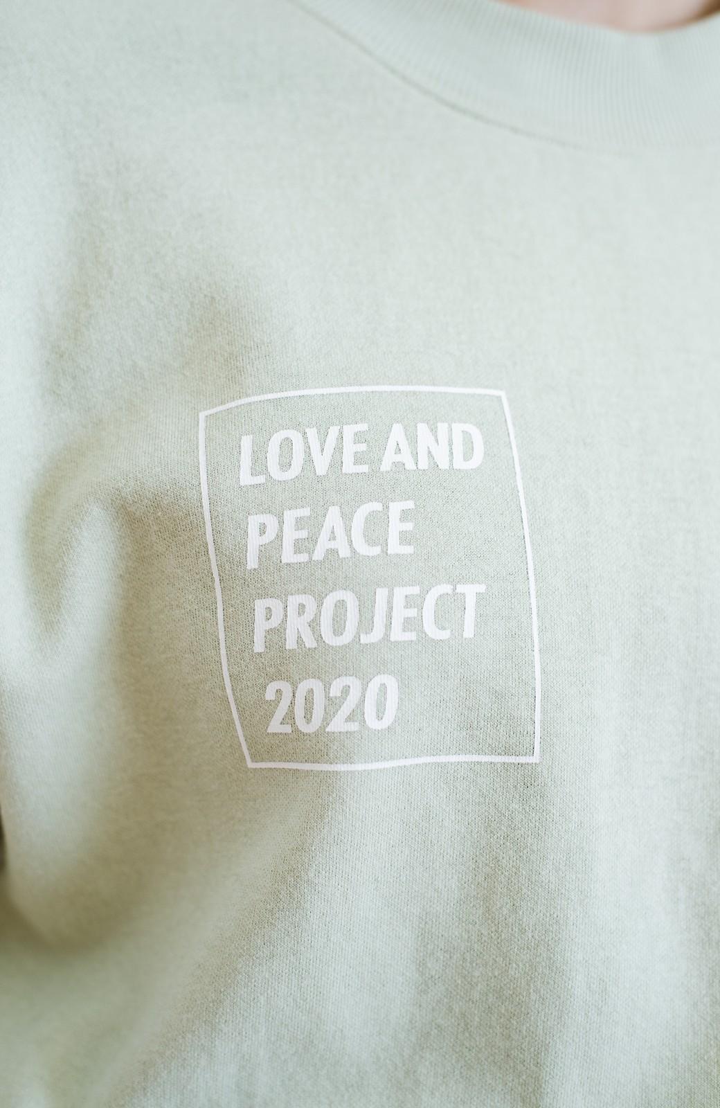 haco! 【高橋愛さんコラボ】ゆるっとオーバーサイズがかわいいロゴプリントワンピース by LOVE&PEACE PROJECT <ミント>の商品写真20