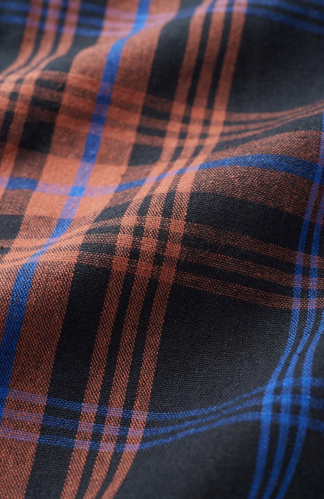 haco! 【高橋愛さんコラボ】セットアップでも別々でも楽しめる リボンアクセントのチェックブラウス&スカート by LOVE&PEACE PROJECT <ダークネイビー>の商品写真4