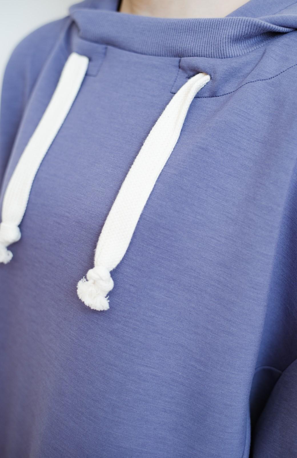 haco! 【スザンヌさんコラボ】オーバーサイズが華奢見せさせる 大人女子のためのスウェット風ビッグパーカー by LOVE&PEACE PROJECT <ラベンダー>の商品写真22