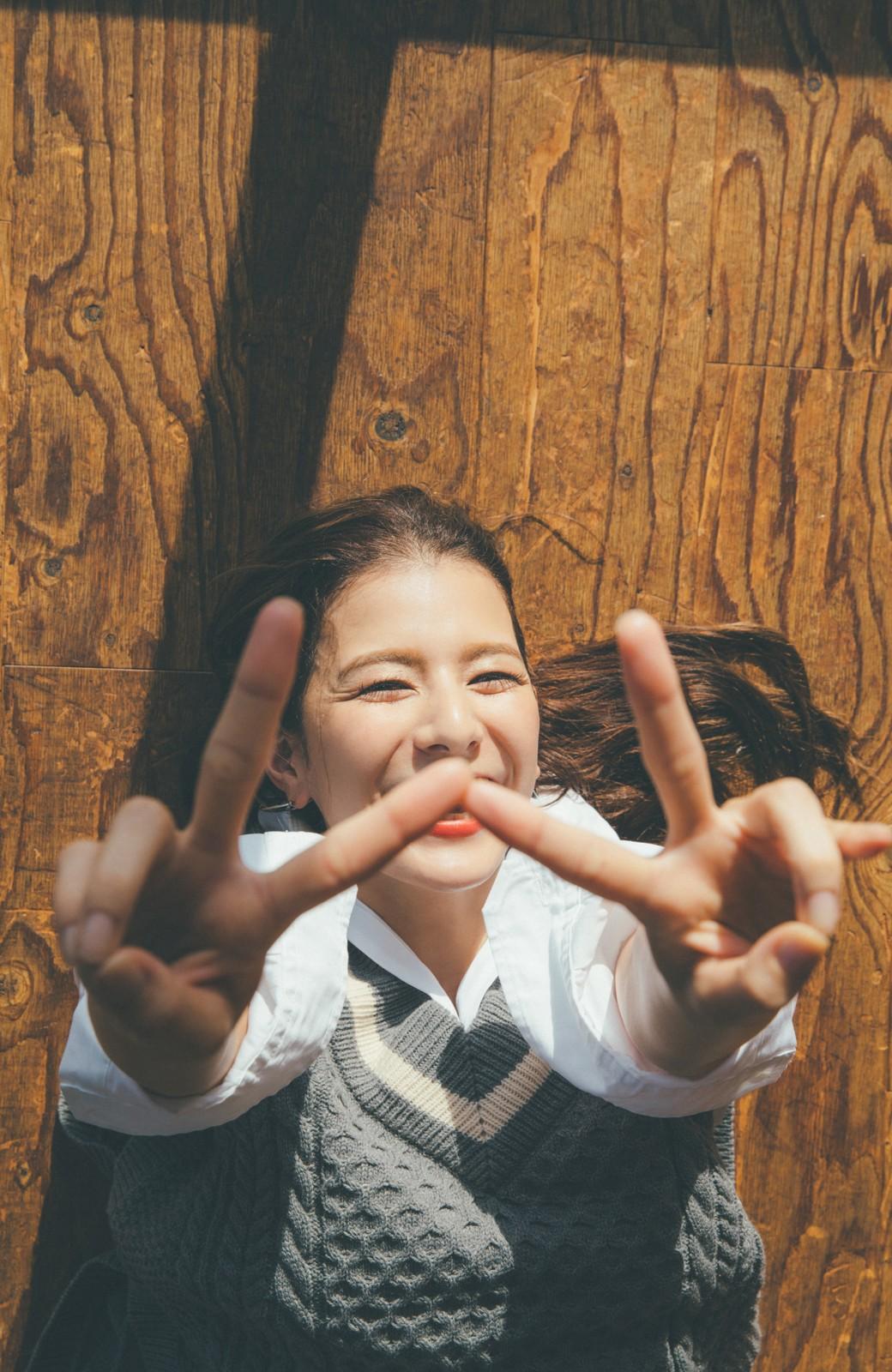 haco! 【スザンヌさんコラボ】ワンピースにもロングTシャツにも相性抜群なオーバーサイズチルデンニットベスト by LOVE&PEACE PROJECT <グレー>の商品写真19