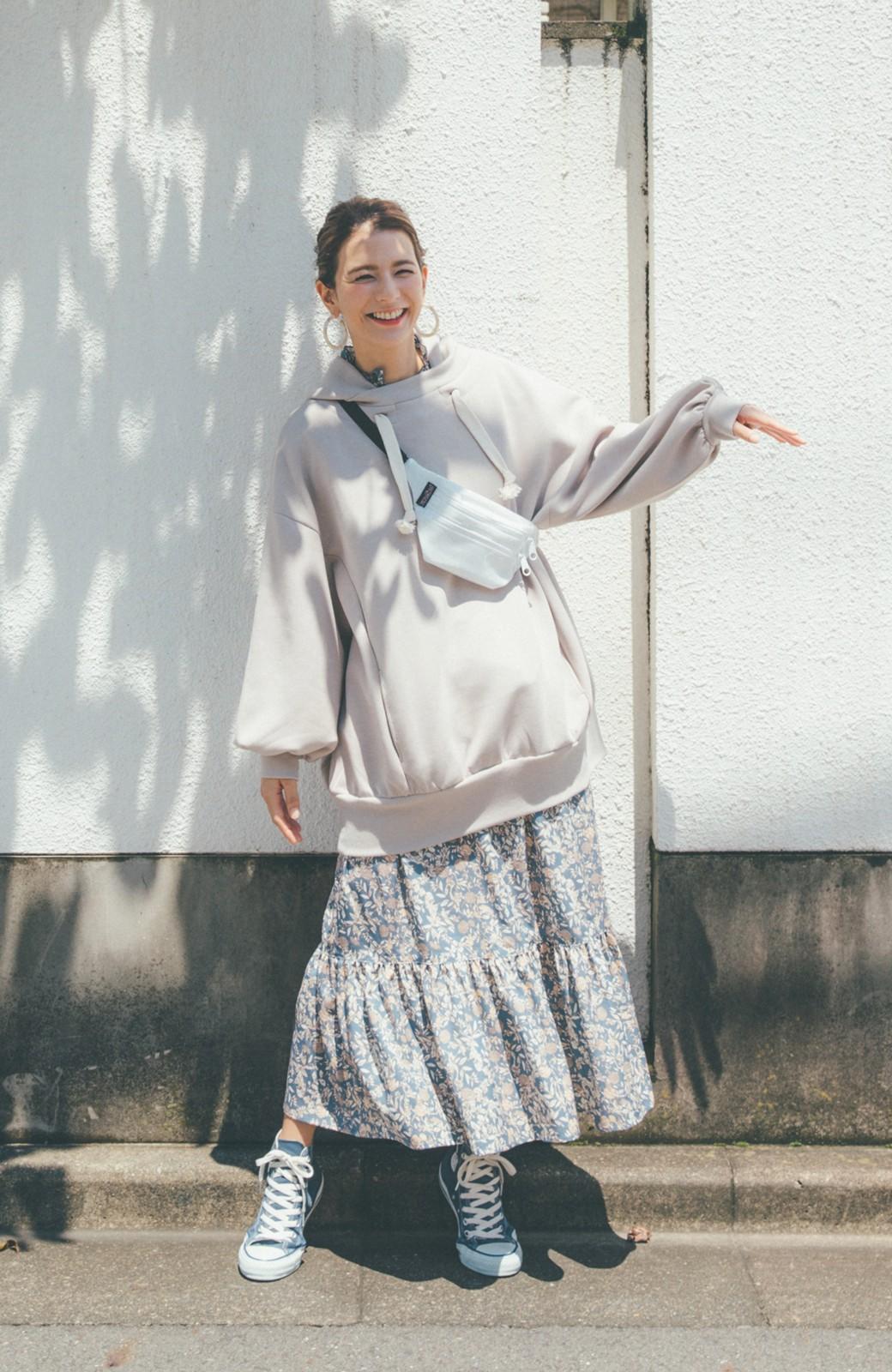 haco! 【スザンヌさんコラボ】大人の華やかさを詰め込んだ ウエストシャーリングのスタイルアップワンピース by LOVE&PEACE PROJECT <ブルー>の商品写真16