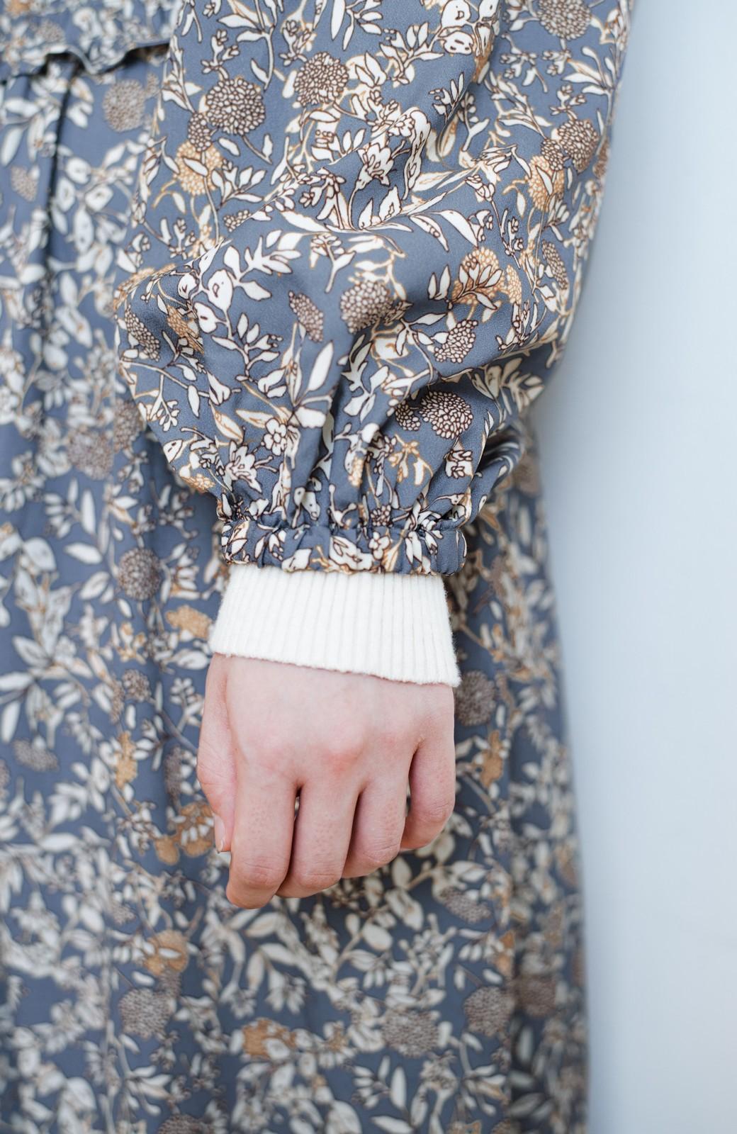 haco! 【スザンヌさんコラボ】大人の華やかさを詰め込んだ ウエストシャーリングのスタイルアップワンピース by LOVE&PEACE PROJECT <ブルー>の商品写真22