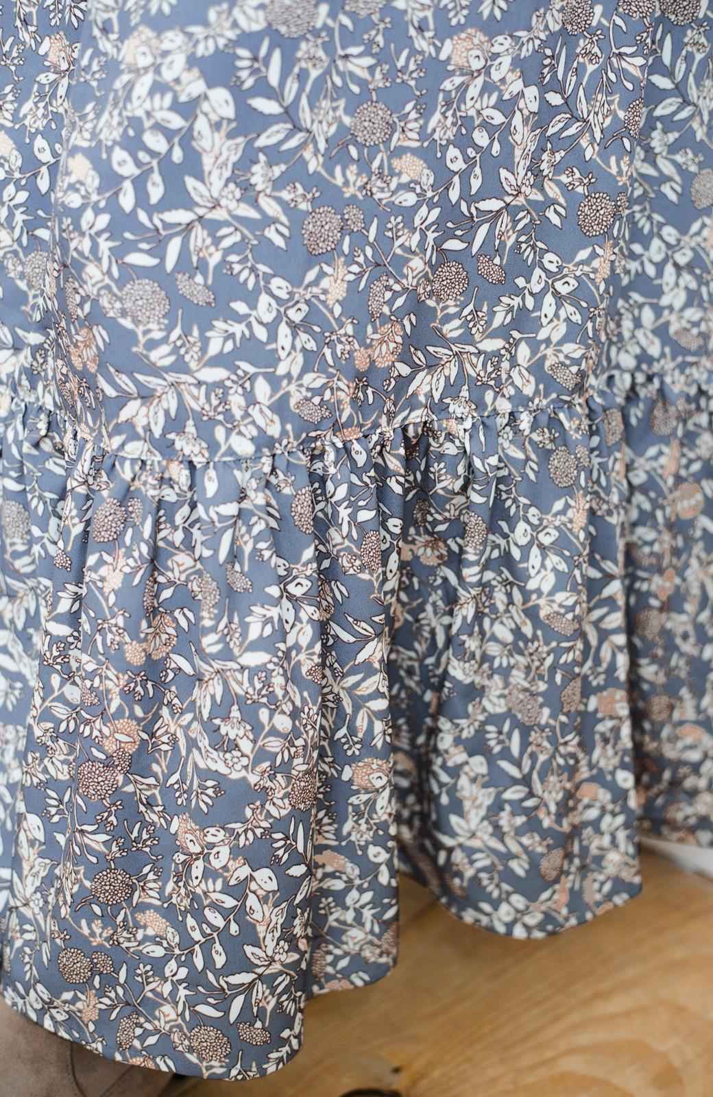 haco! 【スザンヌさんコラボ】大人の華やかさを詰め込んだ ウエストシャーリングのスタイルアップワンピース by LOVE&PEACE PROJECT <ブルー>の商品写真24