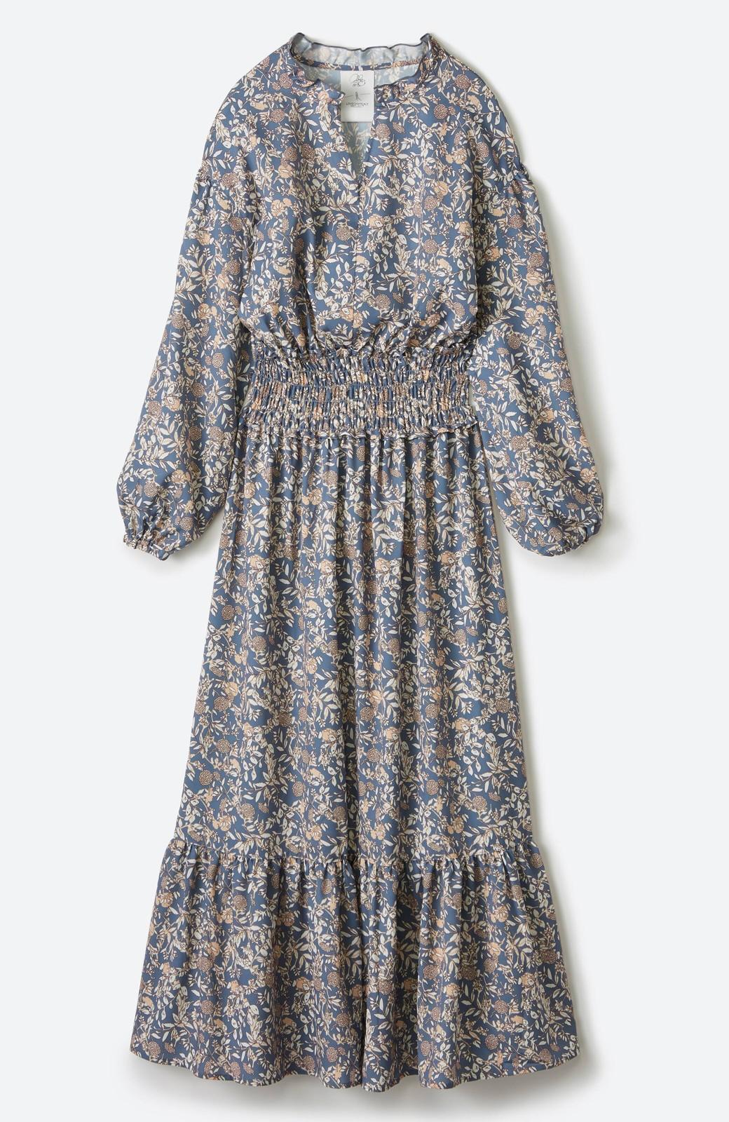 haco! 【スザンヌさんコラボ】大人の華やかさを詰め込んだ ウエストシャーリングのスタイルアップワンピース by LOVE&PEACE PROJECT <ブルー>の商品写真2