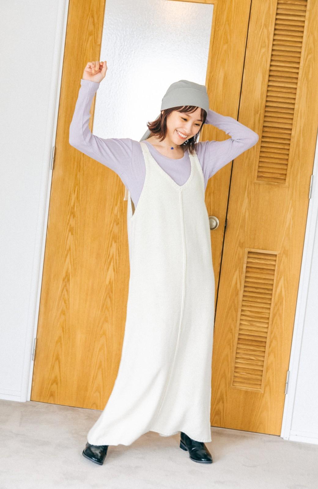 haco! 【高橋愛さんコラボ】ニットジャンパースカートとロングTシャツセット by LOVE&PEACE PROJECT <アイボリー>の商品写真15