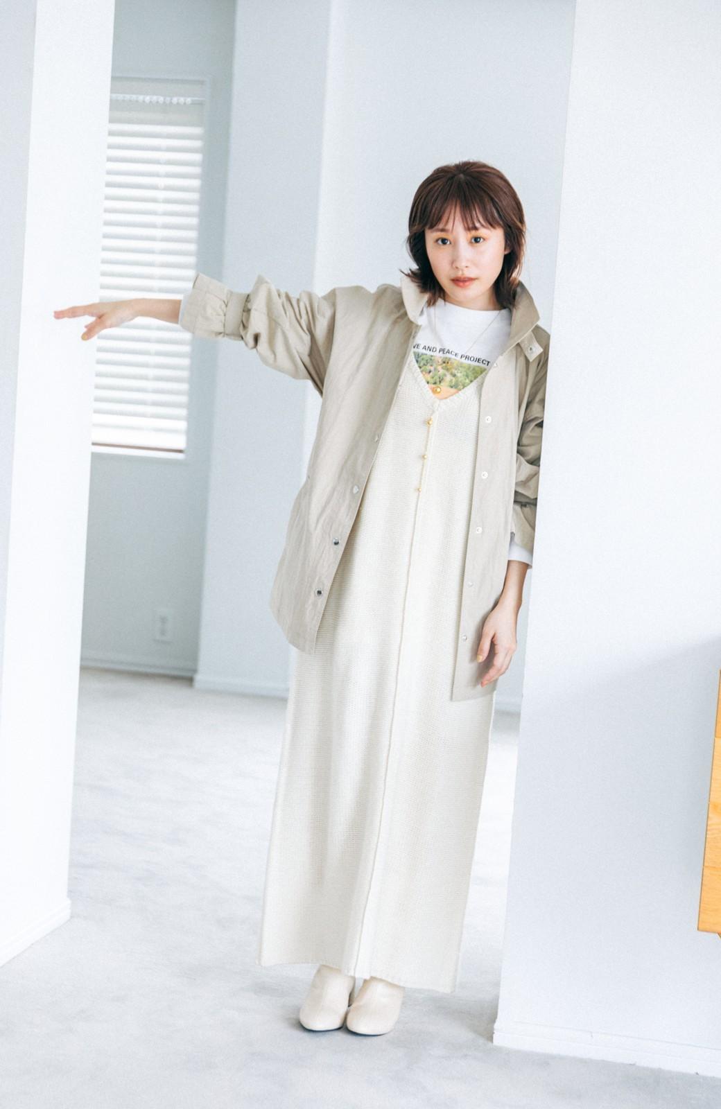 haco! 【高橋愛さんコラボ】ニットジャンパースカートとロングTシャツセット by LOVE&PEACE PROJECT <アイボリー>の商品写真7