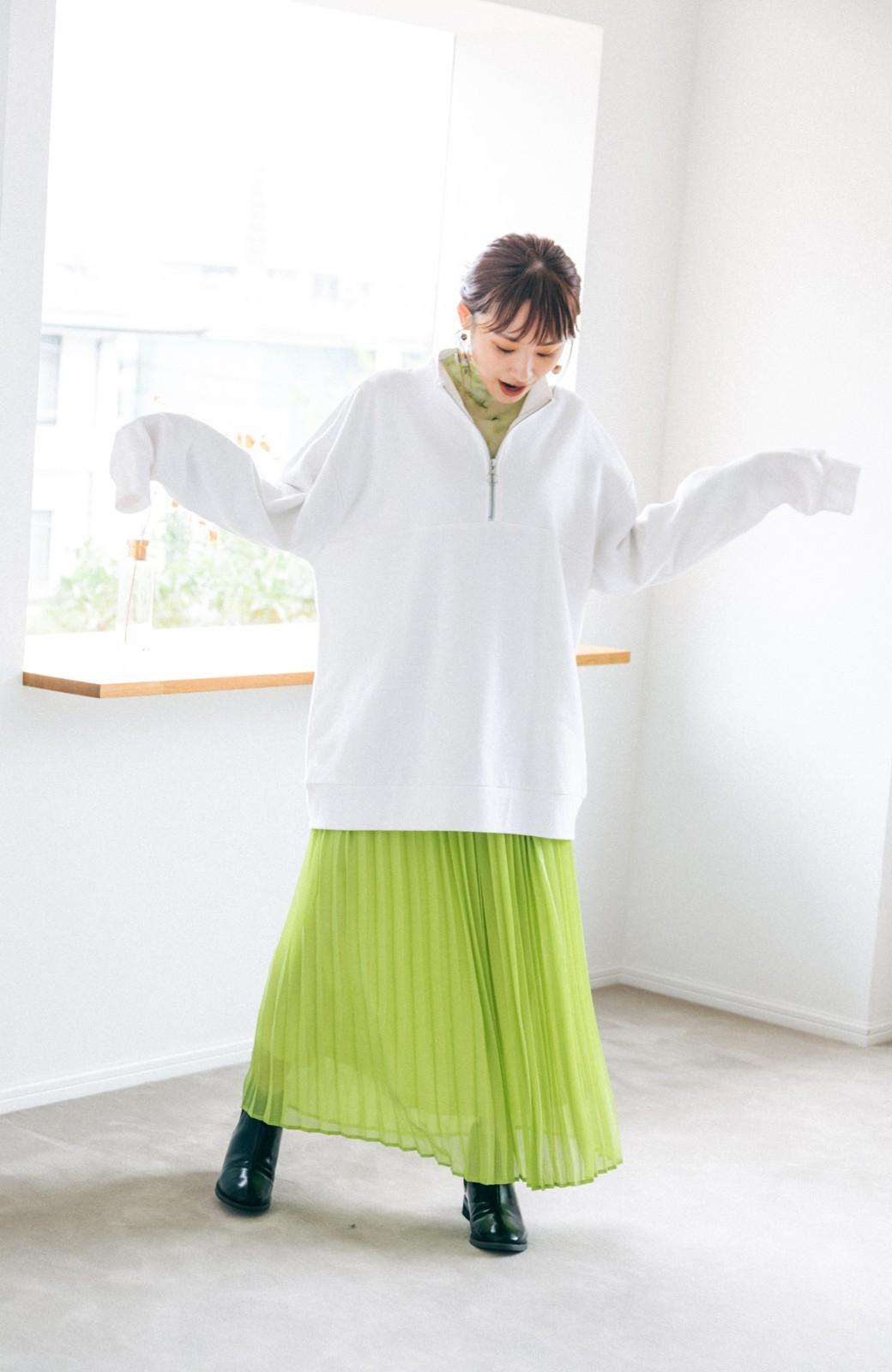 haco! 【高橋愛さんコラボ】スタンドカラーのアノラックスウェットトップス<メンズ> by LOVE&PEACE PROJECT <ホワイト>の商品写真3