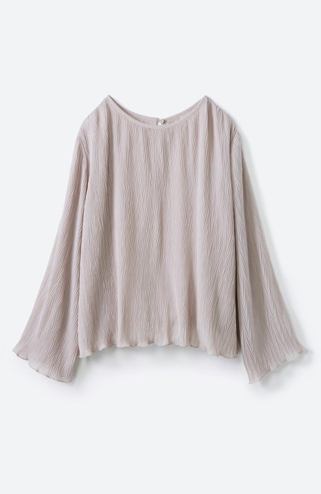 haco! いつものボトムスに合わせてもパッと今っぽくなれちゃうふわり袖が可愛いブラウス <ライトグレー>の商品写真7