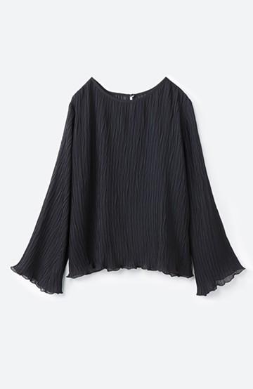 haco! いつものボトムスに合わせてもパッと今っぽくなれちゃうふわり袖が可愛いブラウス <ブラック>の商品写真