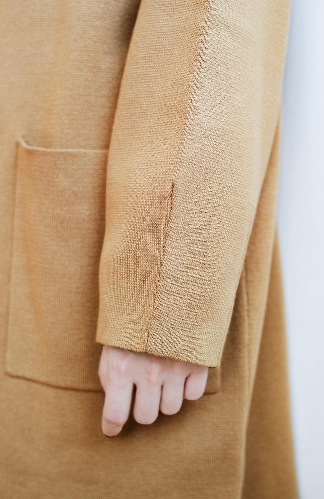 haco! お仕事にもカジュアルな重ね着にも使えて便利なミラノリブニットワンピース  <ベージュ>の商品写真6