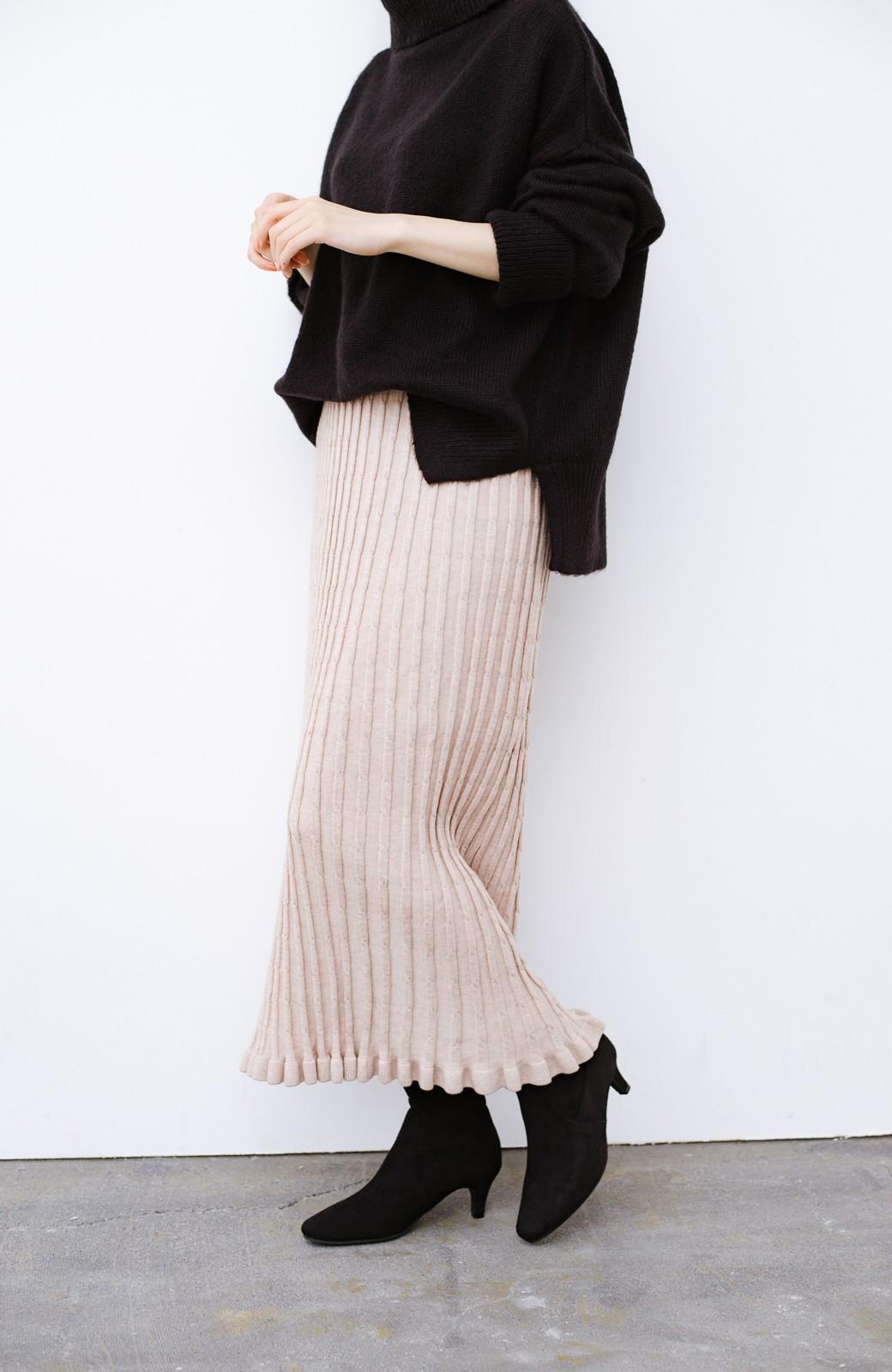 haco! デニムにもスカートにも似合う!すぽっと履けてスタイルアップが叶う女っぽフェイクスエードブーツ <ブラック>の商品写真6